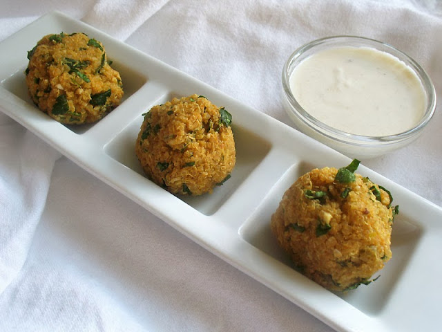 Quinoa falafel balls