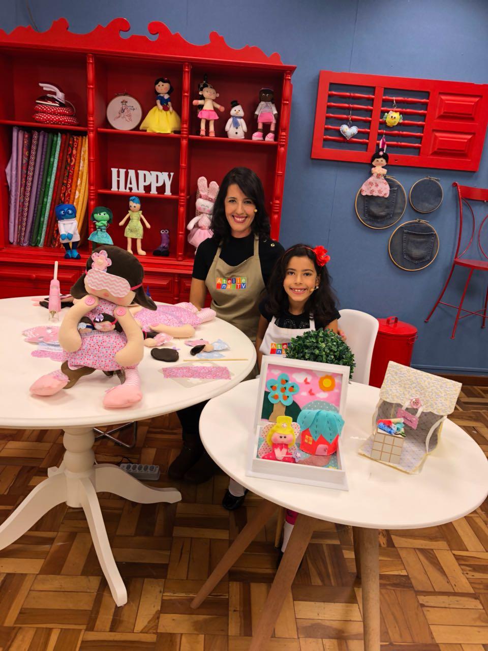 Carla Arteira e Mimi Arteirinha no Ateliê na TV