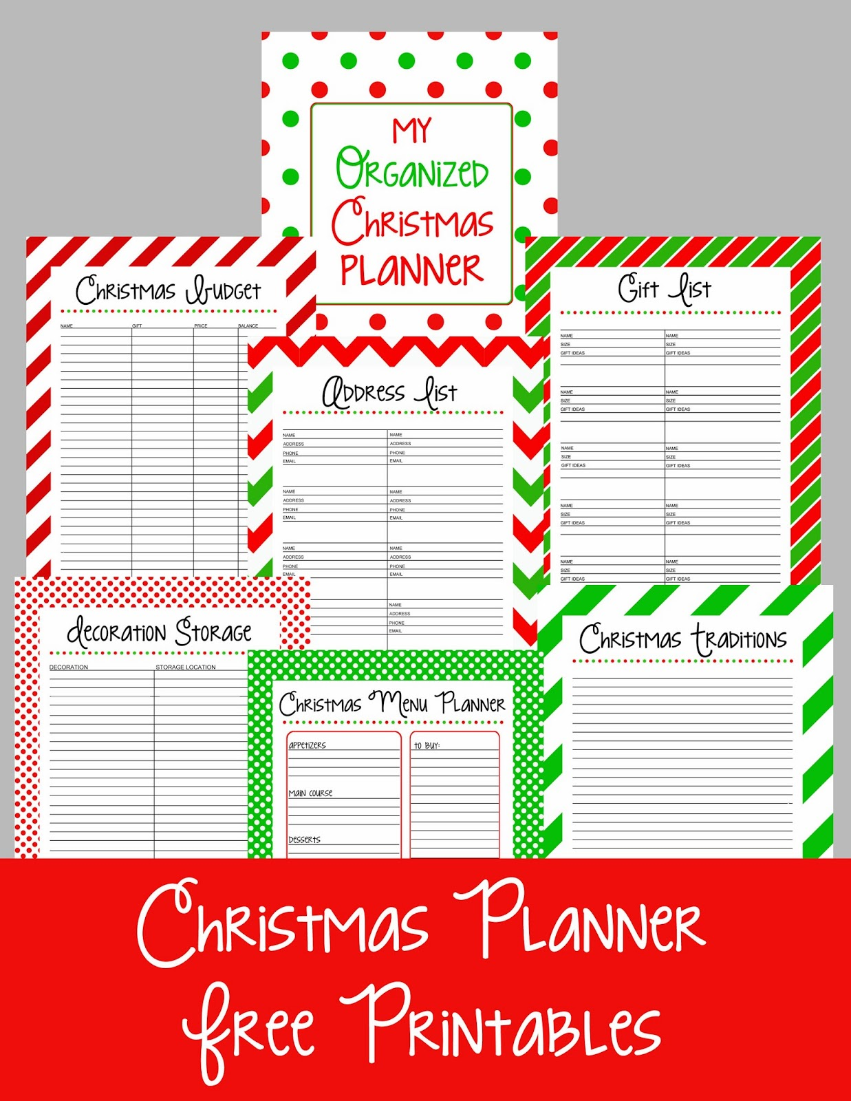 picture about Free Christmas Planner Printables identify Xmas Planner No cost Printables Kelly Leigh Produces