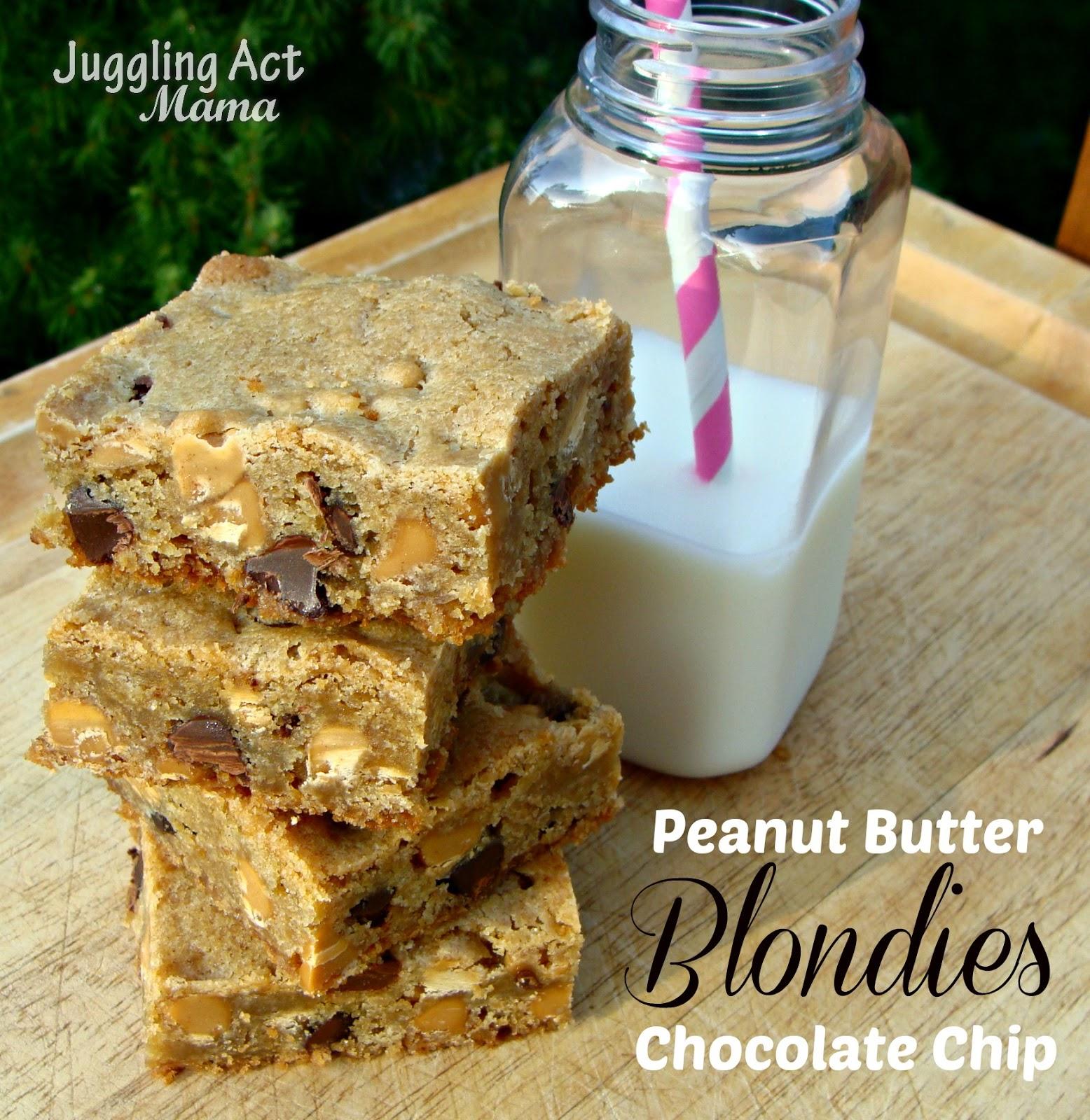 Peanut Butter & Chocolate Chip Blondies {#PasstheCookbook ...