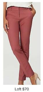 Sydney Fashion Hunter - She Wears The Pants - Loft Marsala Women's Work Pants