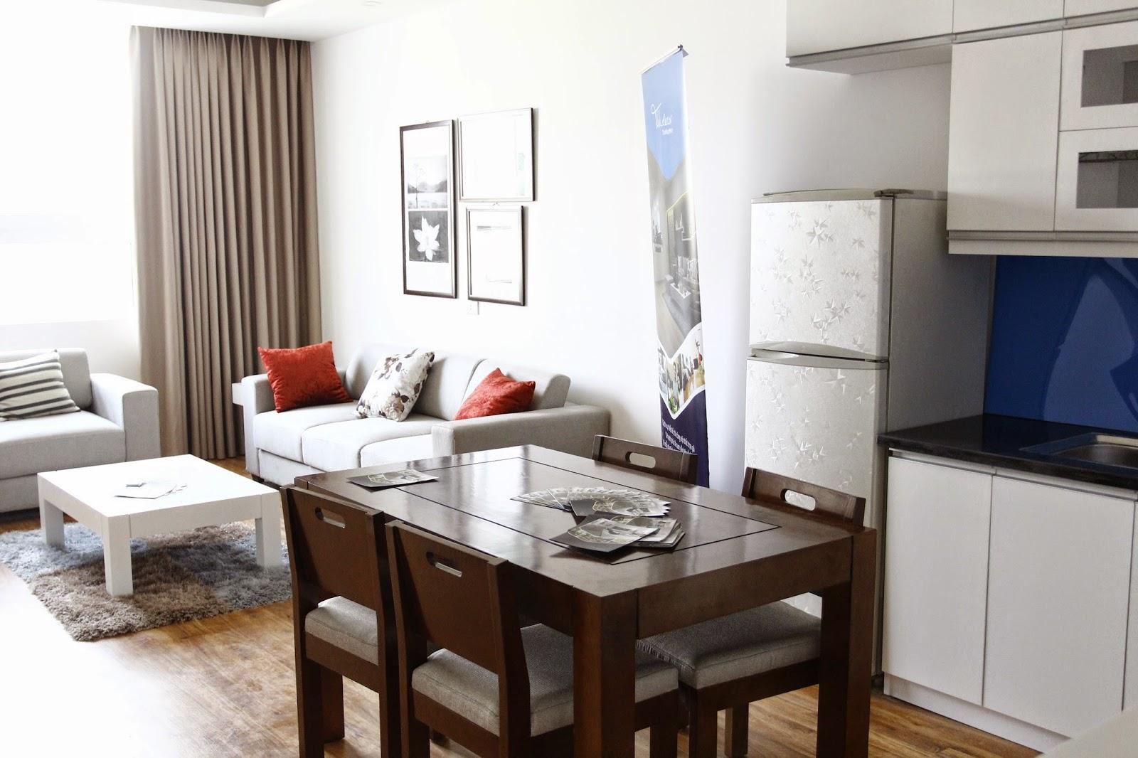 Phòng khách căn hộ CT Number One