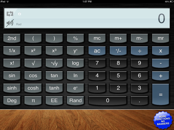 Calculator for iPad Free App By International Travel Weather ...