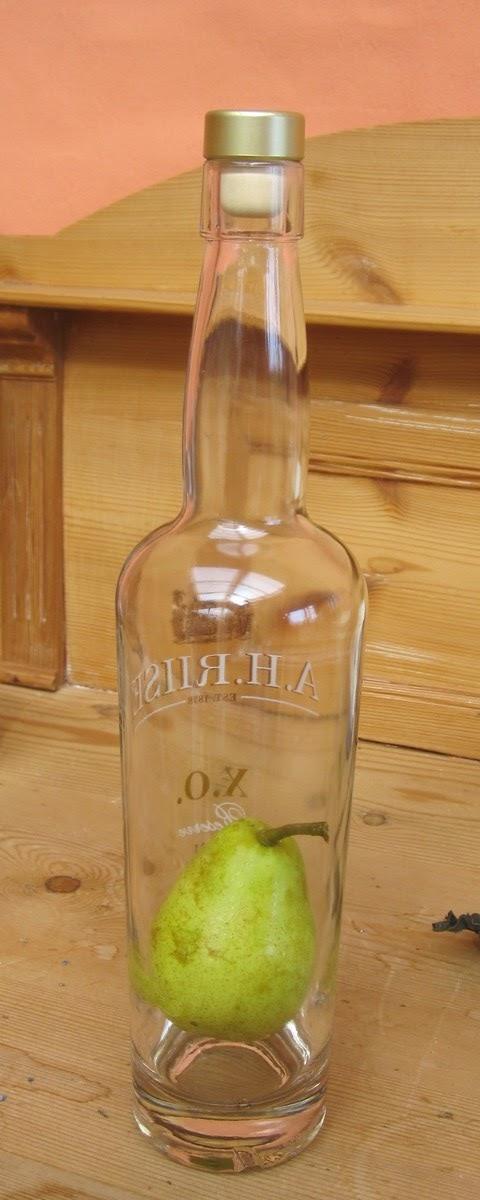 pæresnaps i flaske