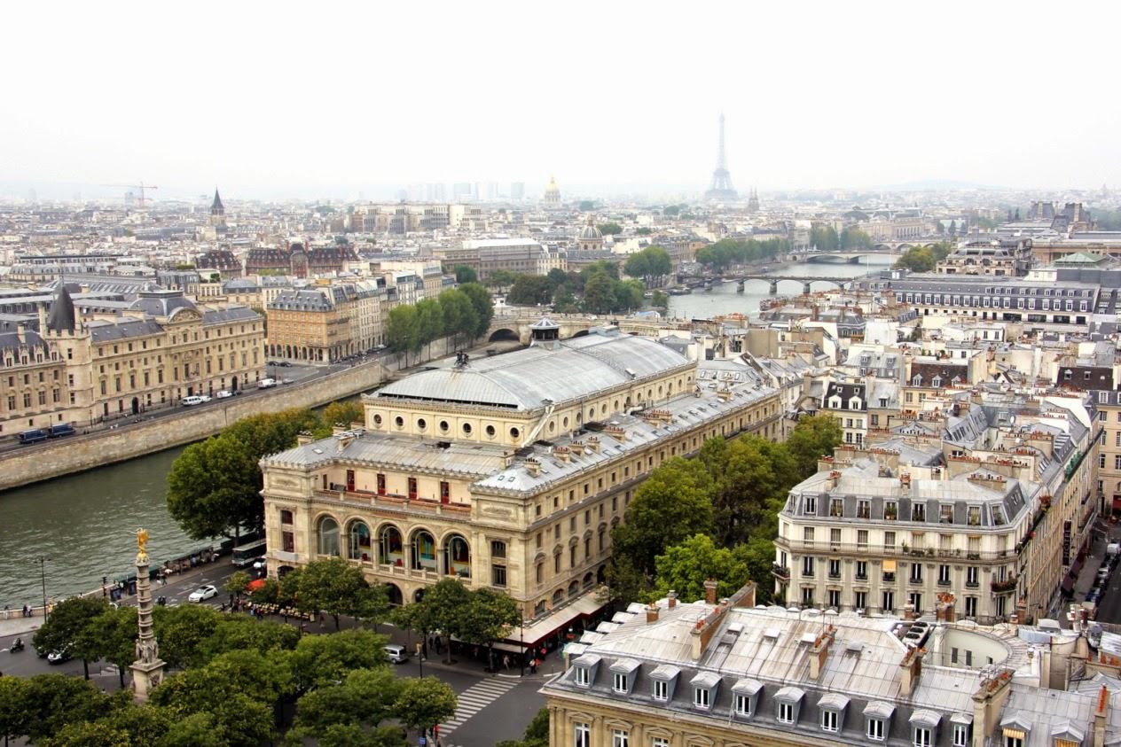 Vue sur Paris depuis la Tour Saint Jacques
