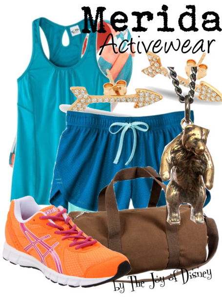 Merida Workout Outfit, Brave Disney