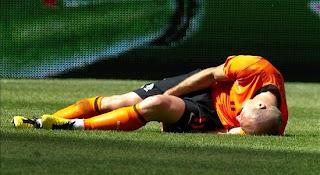 Arjen Robben lesionado indefinidamente