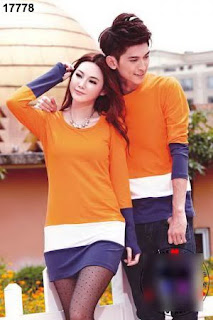 Baju-couple-lengan-panjang-Dress-korea