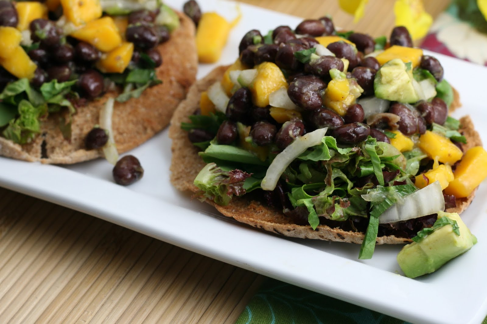 Avocado, Mango and Caribbean Black Bean Tostada - Florida Coastal ...