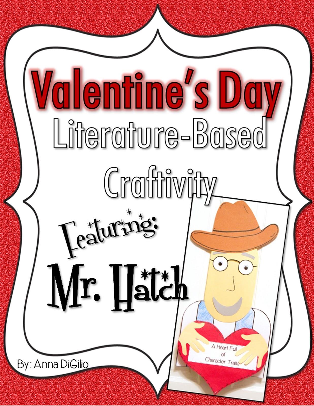 http://www.teacherspayteachers.com/Product/Valentines-Day-Literature-Based-Craftivity-520147