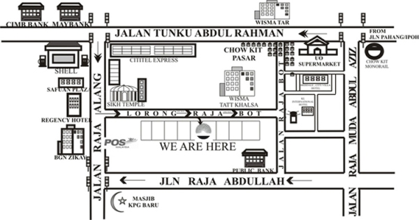 MAP TO OUR SHOP