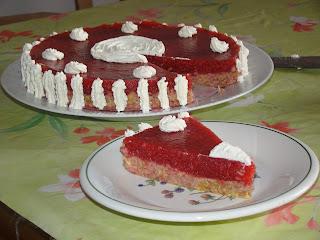 torta di gelatine di fragole