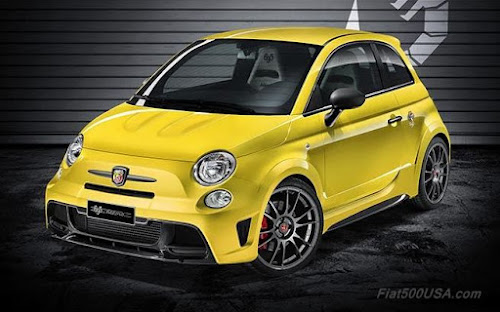 Abarth 695 Biposto Record in Modena Yellow