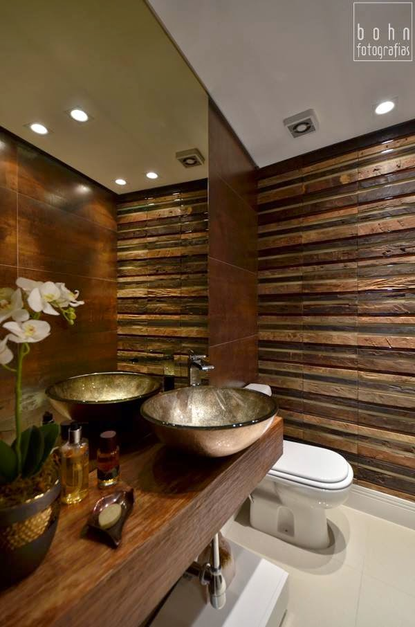 decoracao bancada lavabo : decoracao bancada lavabo:30 Lavabos pequenos e modernos – veja dicas de como ousar e decorar