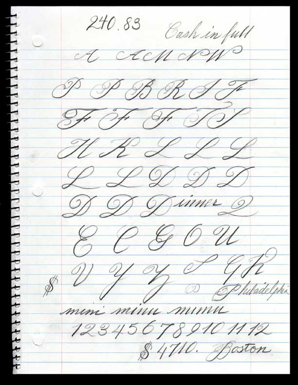 Pin Spencerian Script Alphabet Website Of Vukeprey On