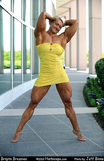 female bodybuilder Brigita Brezovac