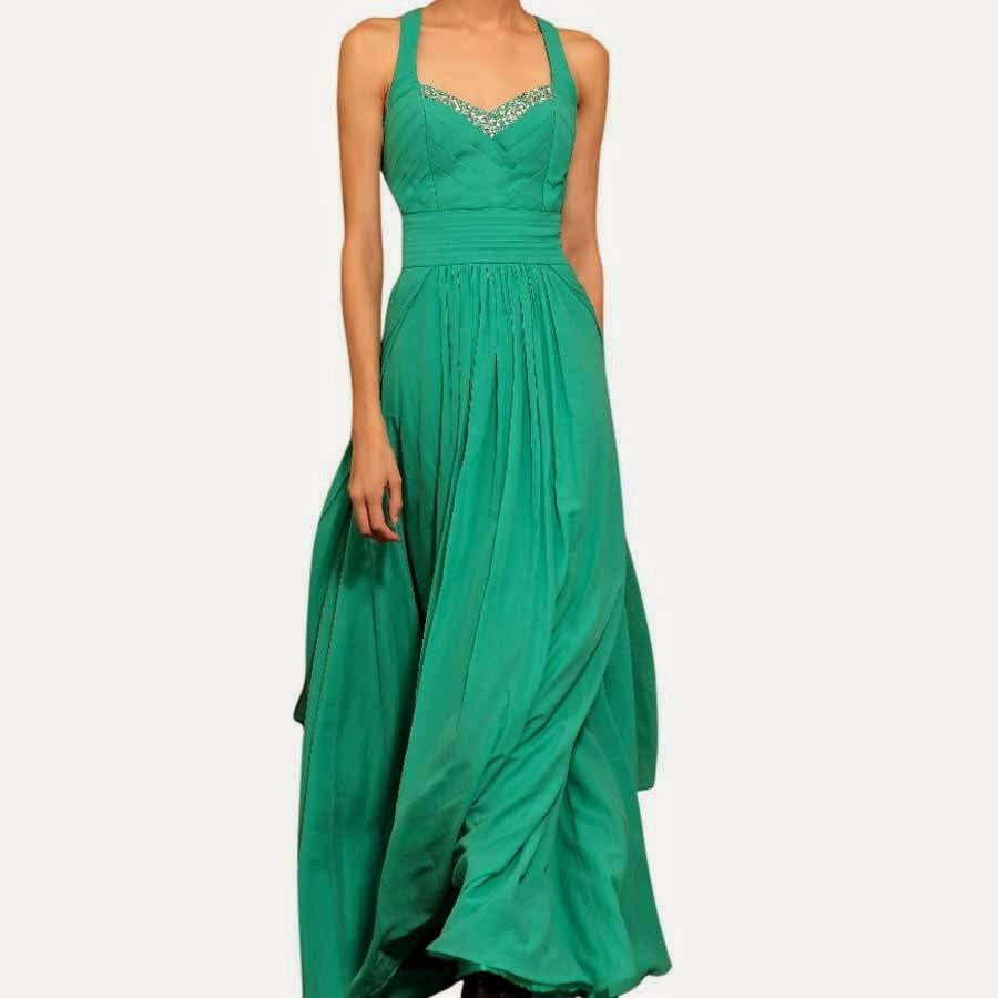 Green Chiffon Maxi Dress: Affordable Wedding Dresses - Green Queen