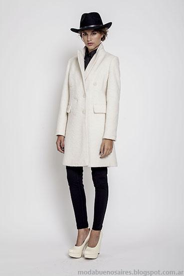 Tapados invierno 2015 Janet Wise moda mujer.