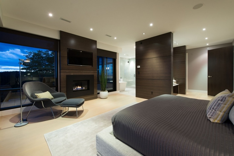 Bedroom in Elegant modern house in west Vancouver, Canada