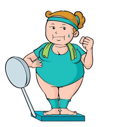 girl cartoon Fat