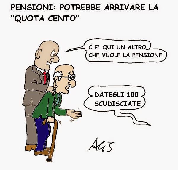 quota100, pensioni, fornero, satira, vignetta