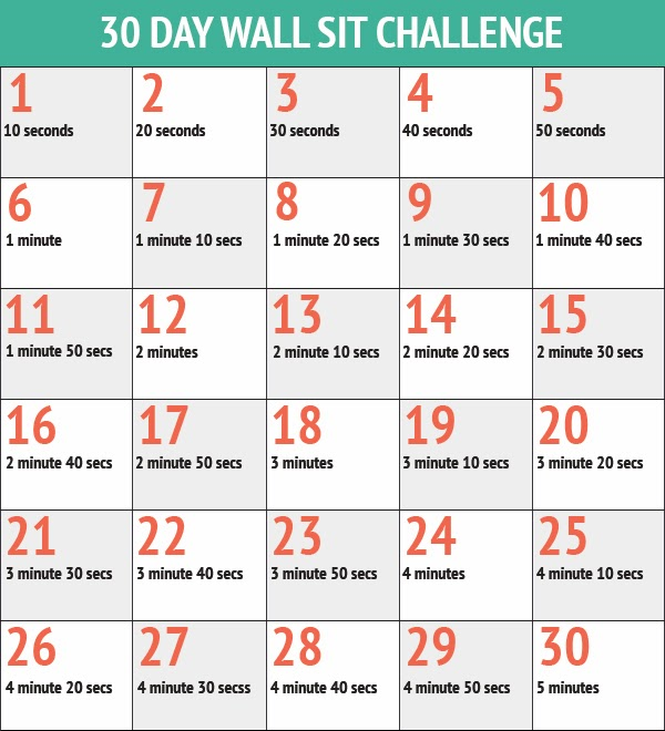 RunProctor: 30 day squat and wall sit challenges