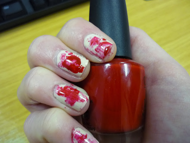 Halloween Blood Spatter Nail Art Tutorial
