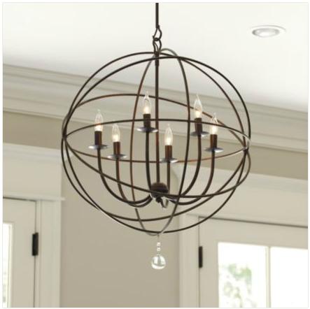 Restoration hardware foucaults iron orb chandelier decor look alikes orb chandelier aloadofball Image collections