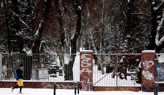 Joggeur dans la neige - berlin