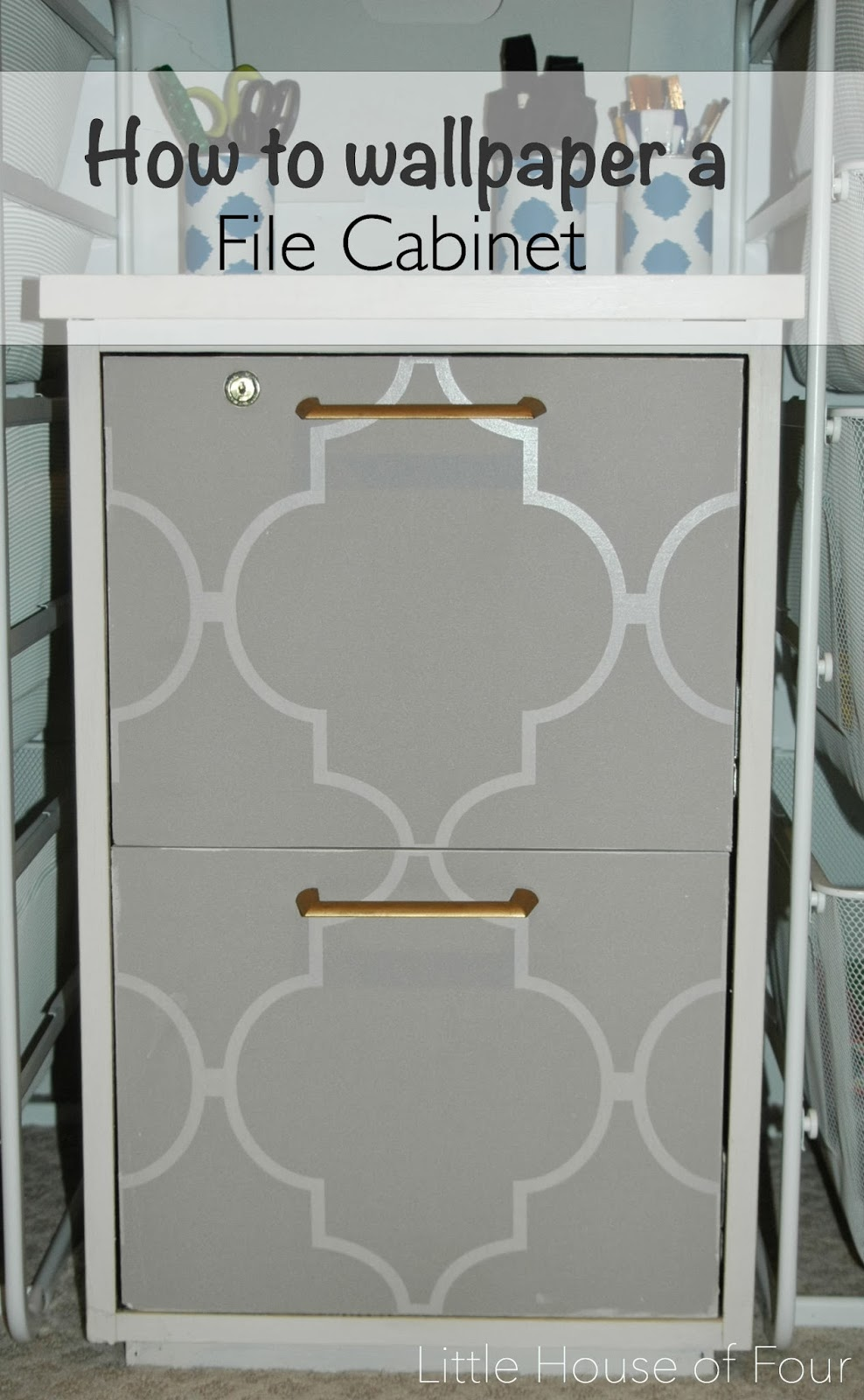 how to wallpaper furniture. Wallpaper Covered File Cabinet Transformation. How To Furniture