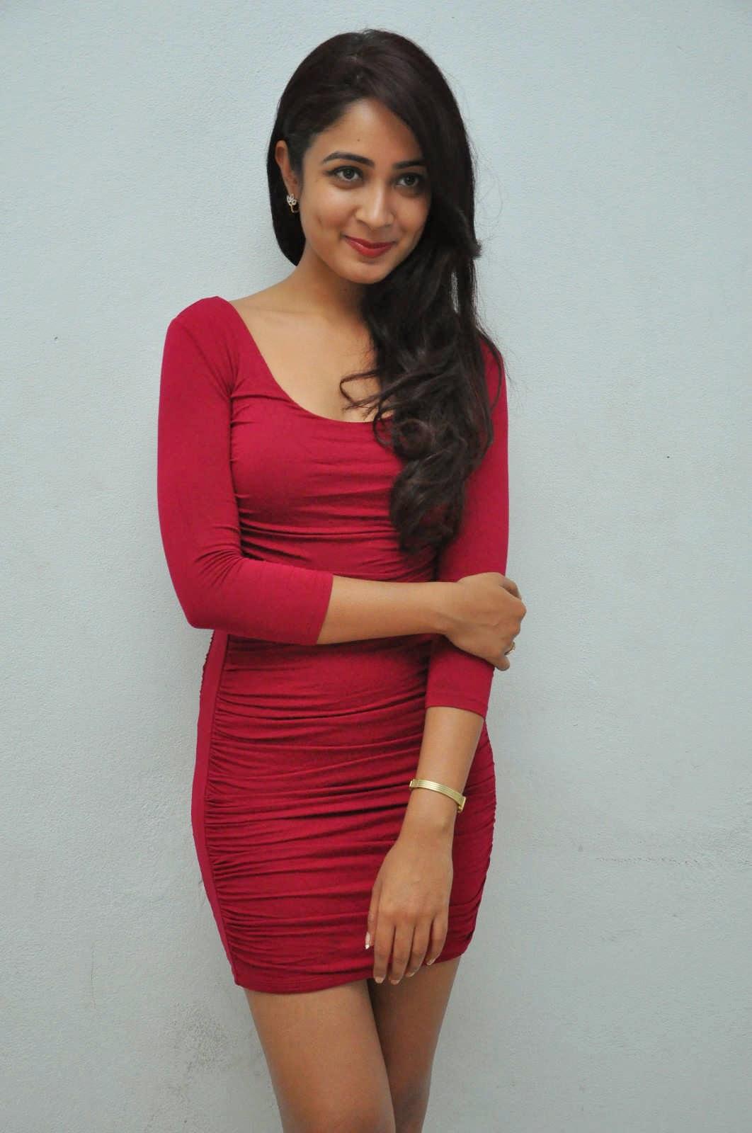 Actress Aditi Chengappa Latest Cute Hot Red Mini Skirt Dress Spicy Thighs Show Photos Gallery At Moodu Mukkallo Cheppalante Audio Launch