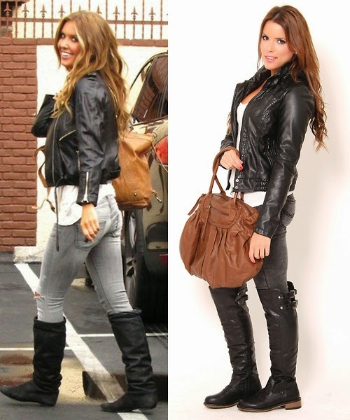 leather jacke,,Boots and outfit Jeans