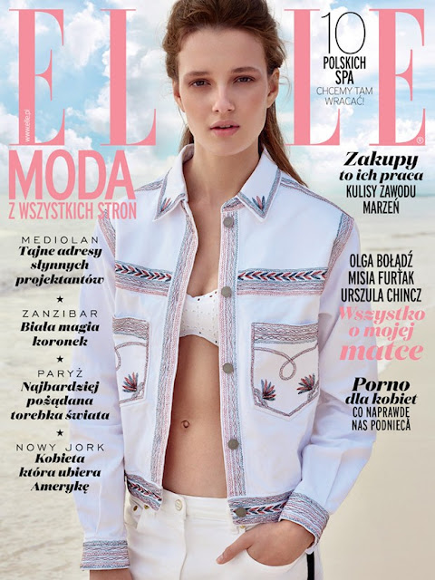 Model @ Alicja Tubilewicz by Agata Pospieszynska for Elle Poland, June 2015
