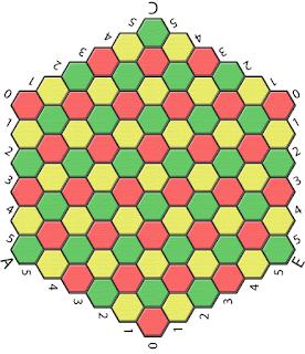Шестиугольные шахматы (Гексофен). Поле