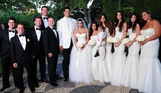 As irmãs Kardashian no casamento de Kim