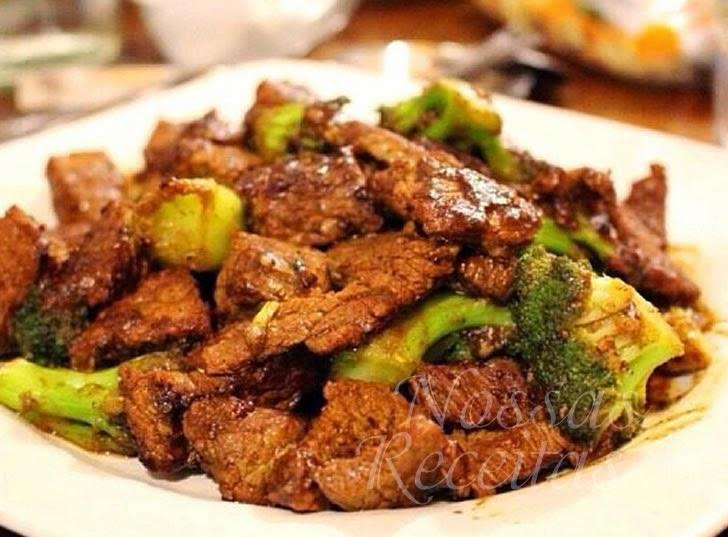 Receita de Carne preparada com brócolis