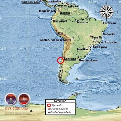 Sísmo de 6,4 grados sacude el centro de Chile