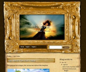 To Die For Blogger Template