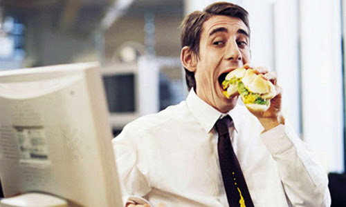 eating in office