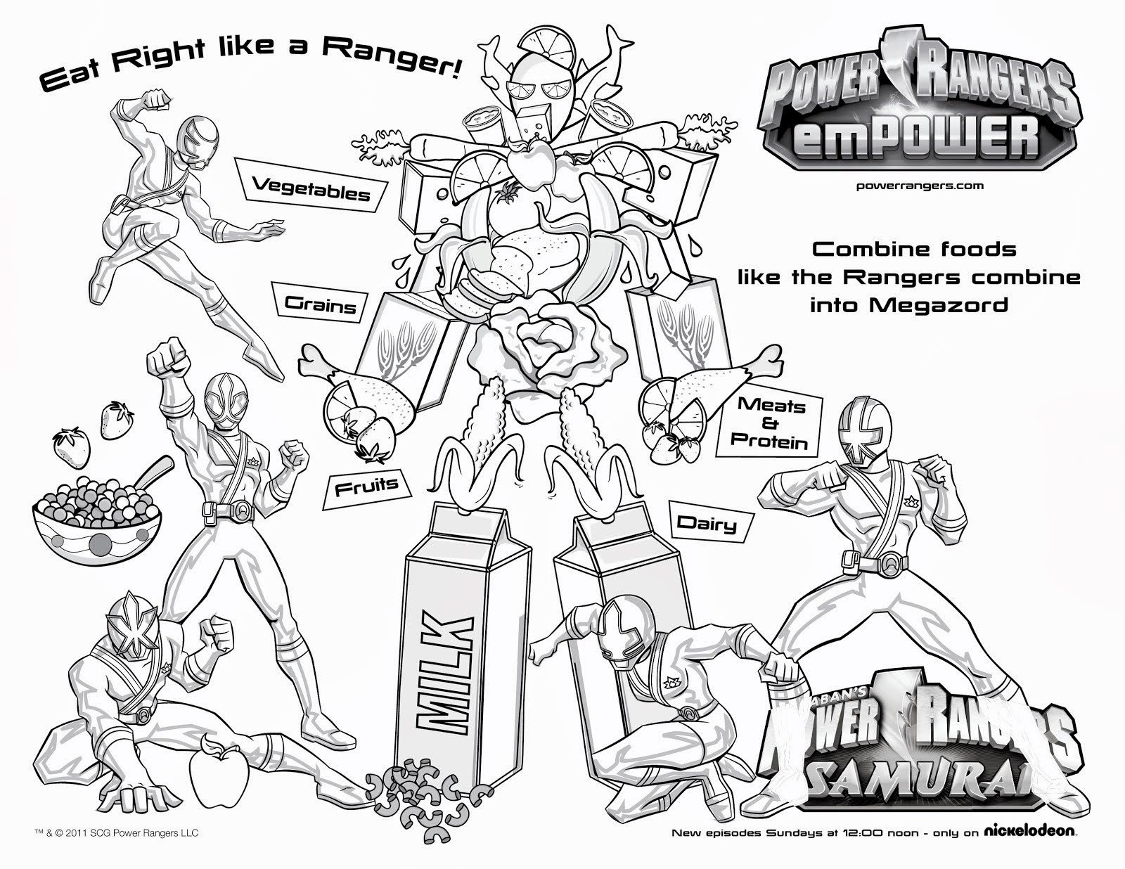 Online coloring power rangers - Power