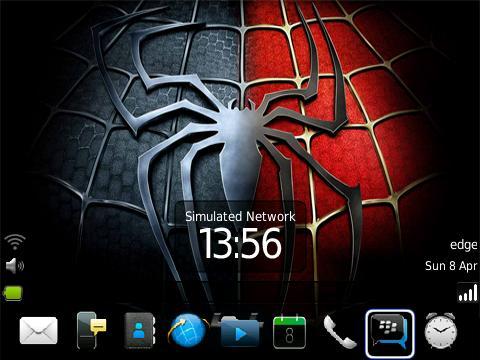 Tema Spiderman Untuk BlackBerry