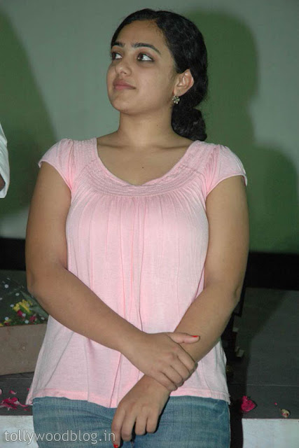 Nitya Menon Showing Hot Boobs