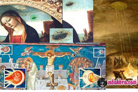 UFO di lukisan abad pertengahan