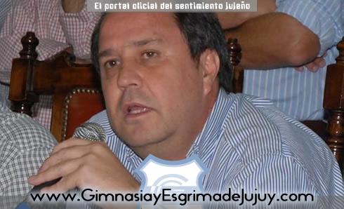 Fernando Yecora, Presidente de Gimnasia y Esgrima de Jujuy