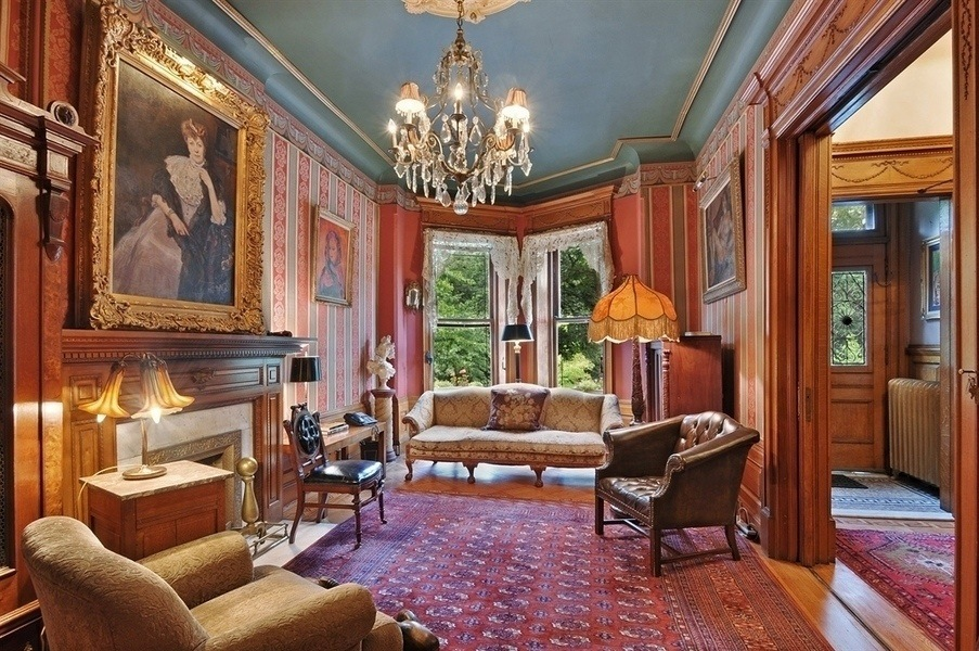 Old world gothic and victorian interior design old for New york brownstone interior design