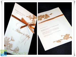 model kartu undangan pernikahan 1 lembar 3 lipat