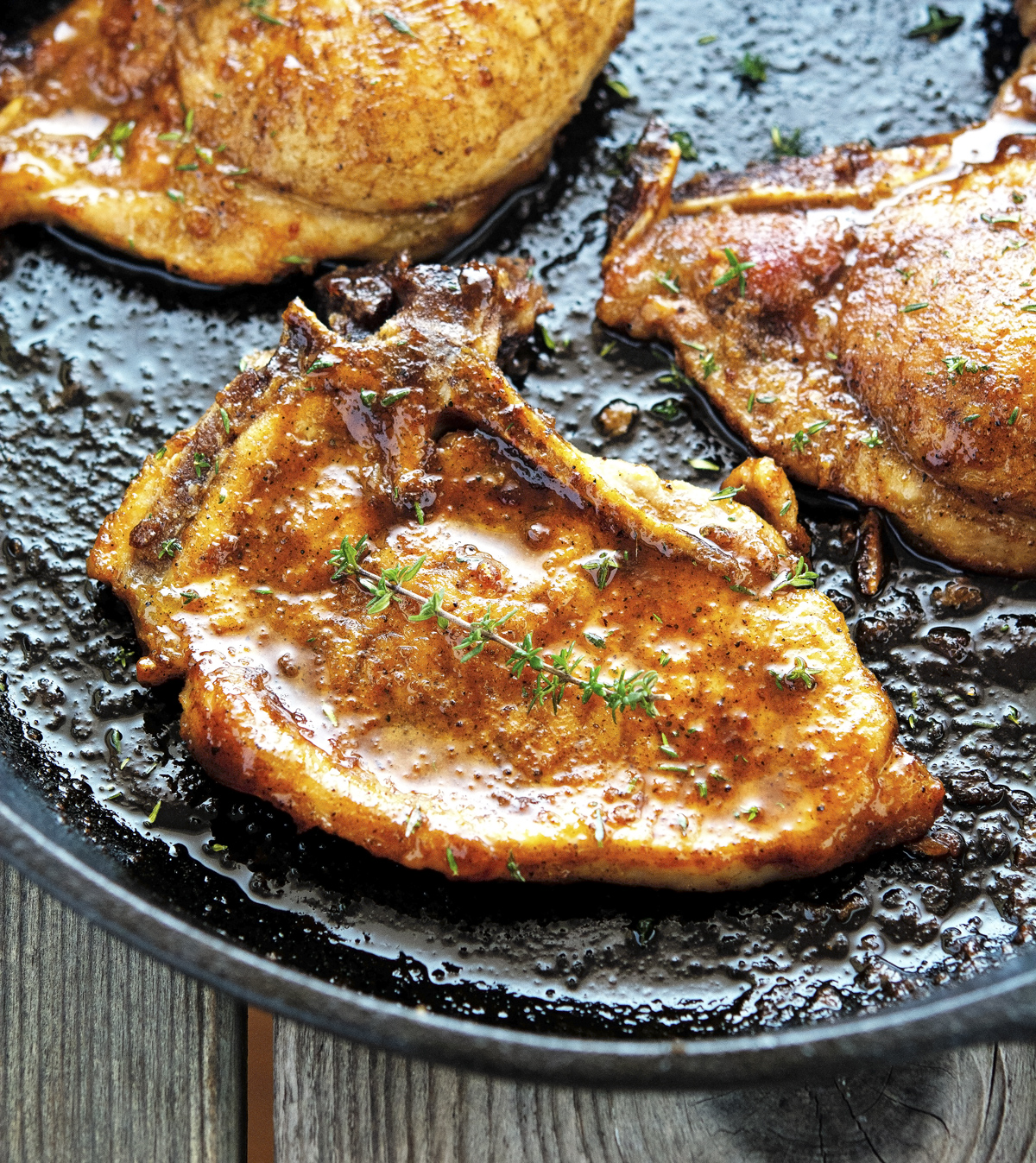 The Iron You: Apple Cider Glazed Pork Chops