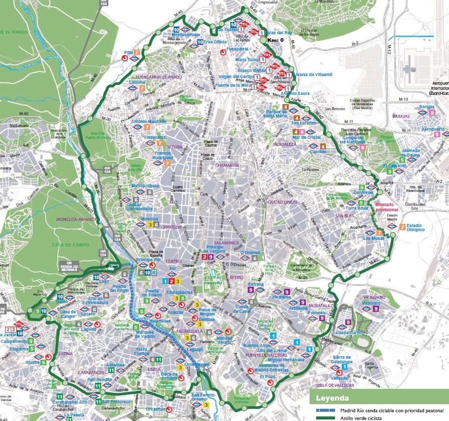Solo 2 cuestas s2c reta al anillo verde y sus 64 km - Anillo verde ciclista madrid mapa ...