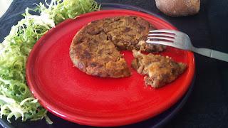 Tortilla vegana de berenjena
