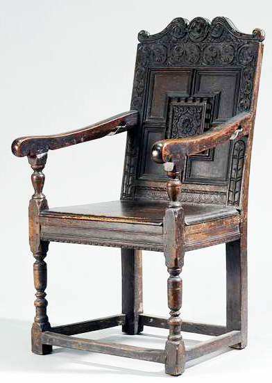 Panel-backed Chair